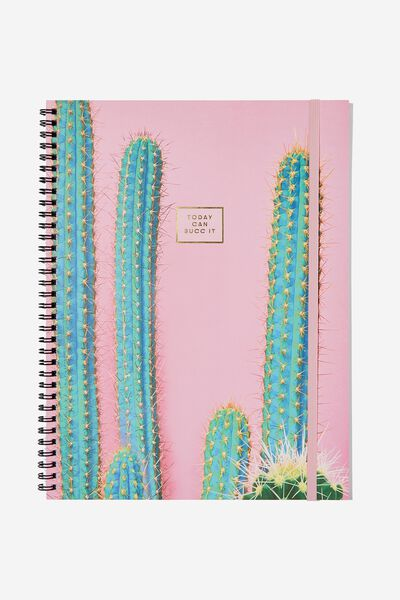 A4 Spinout Notebook - 120 Pages, CACTUS SUCK IT