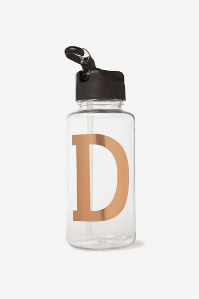 Alphabet Drink Bottle, ROSE GOLD D