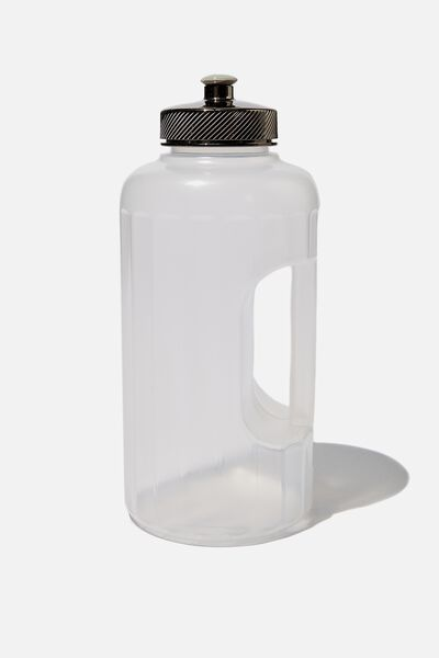 Faceted Drink Bottle, CH CLEAR