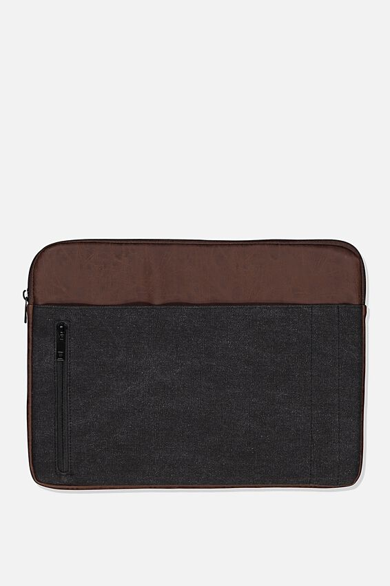 Take Charge 15 Inch Laptop Cover, BLACK & RICH TAN