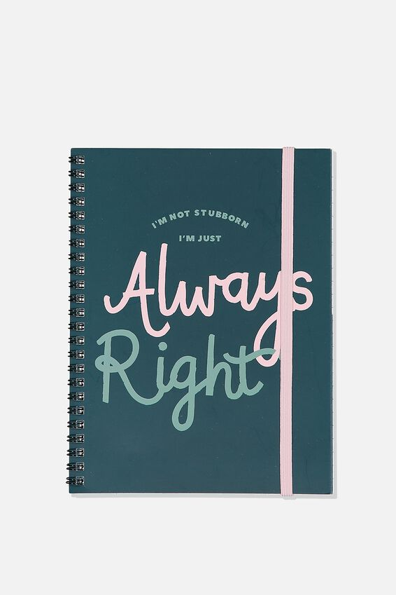 A5 Spinout Notebook Recycled, ALWAYS RIGHT