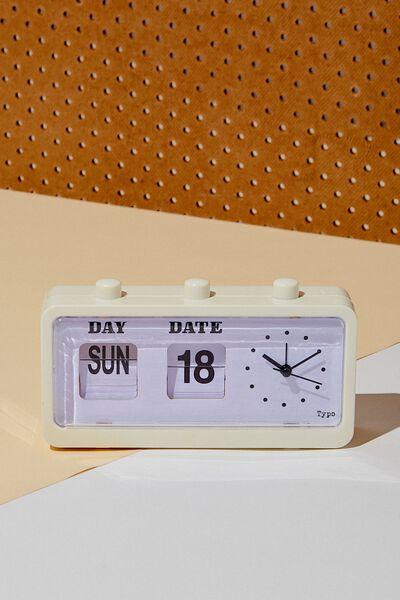 Retro Flip Clock, ECRU