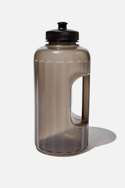 Faceted Drink Bottle, CH BLACK