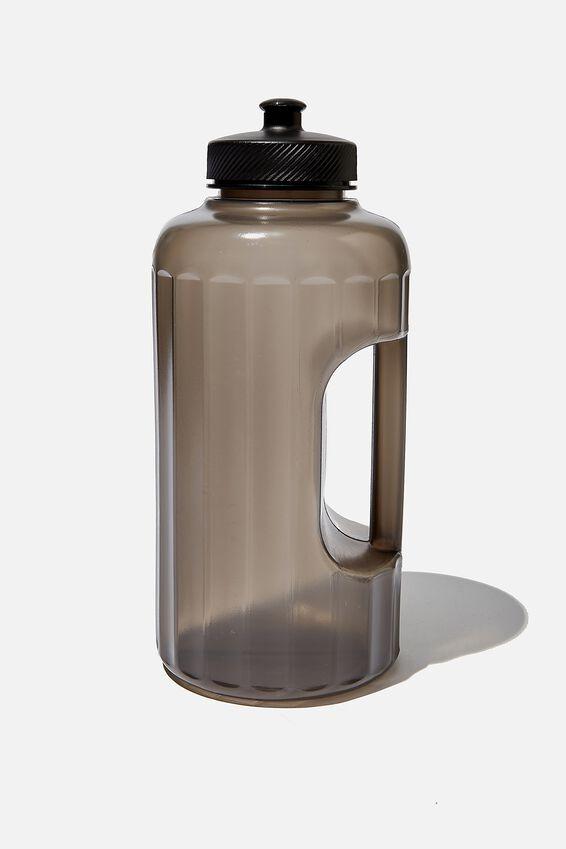 Faceted Drink Bottle, CH BLACK
