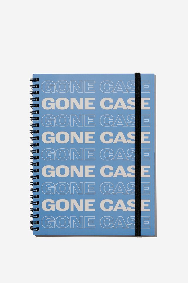 A5 Spinout Notebook Recycled, RG ASIA GONE CASE BLUE