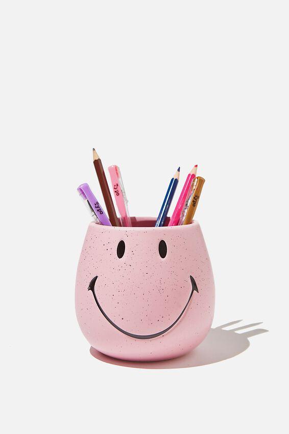 Licensed Pen Holder, LCN SMI SMILEY PINK