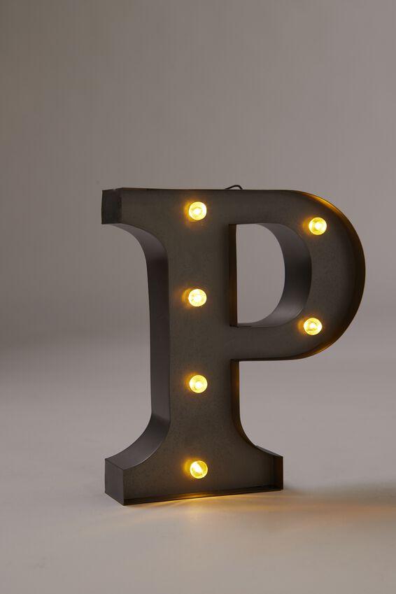 Midi Marquee Letter Lights 6.3inch, SILVER P