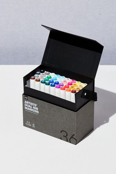 Artists Dual Nib Marker 36Pk, MULTI