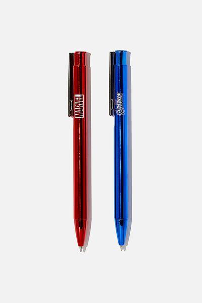 Boxed 2Pk Pens, LCN MARVEL AVENGERS