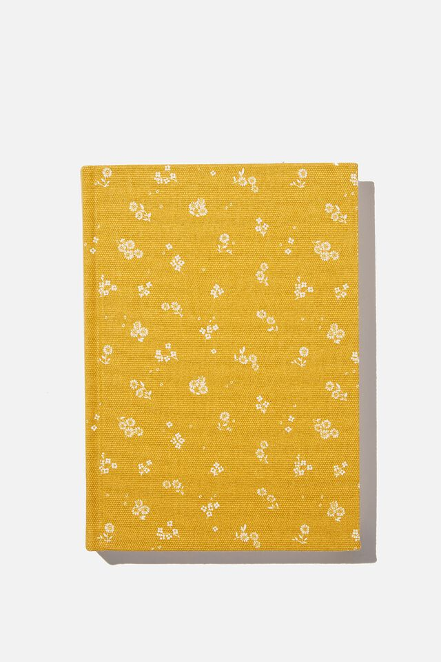 2021 A5 Oxford Daily Diary, DOTTIE FLORAL MUSTARD