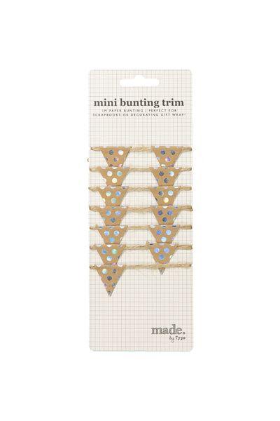 Mini Bunting Trim, HOLOGRAPHIC SPOT
