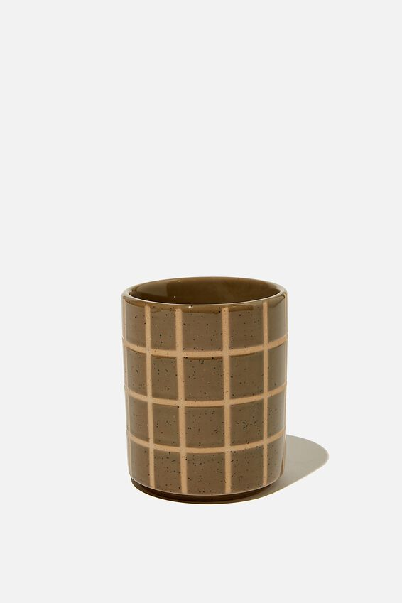 Pen Holder, KHAKI GRID