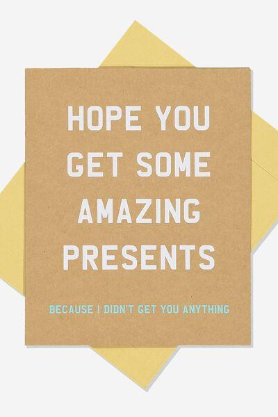 Funny Birthday Card AMAZING PRESENTS
