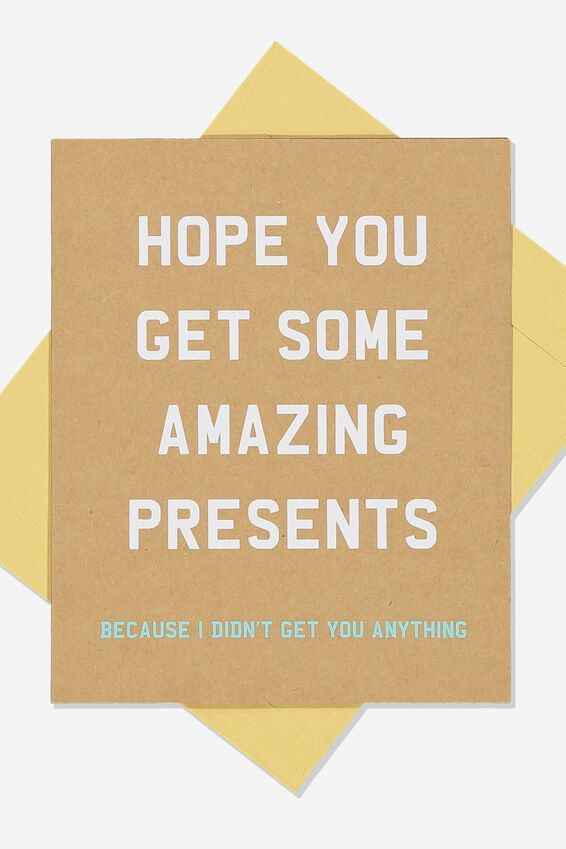 Funny Birthday Card, AMAZING PRESENTS