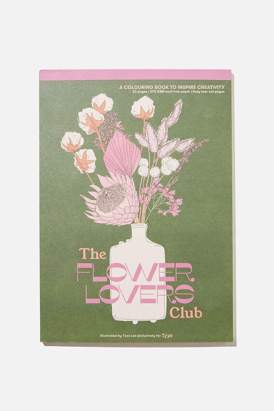Artists Assistant Colouring In Book, THE FLOWER LOVERS CLUB