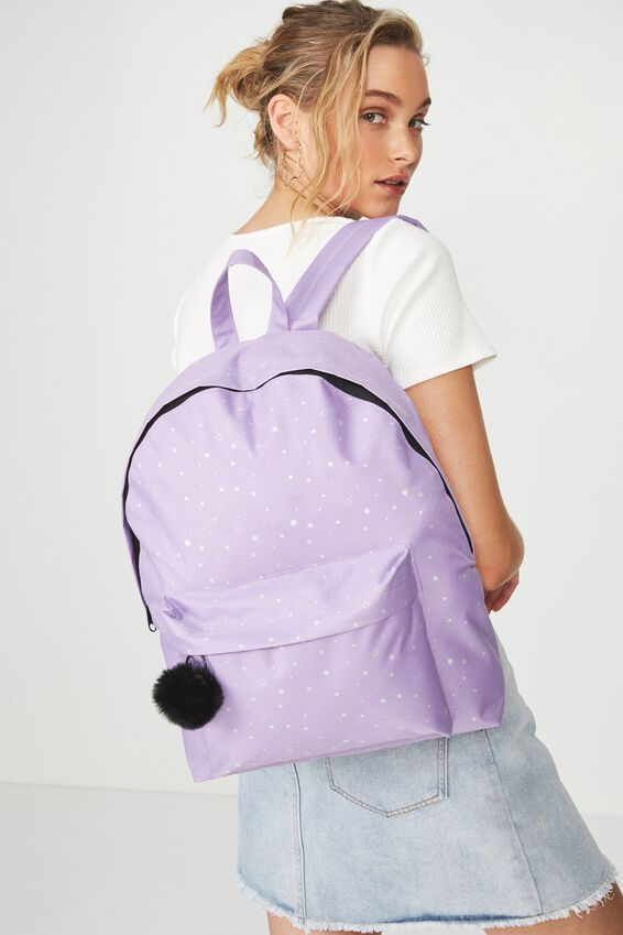 Daily Backpack, LILAC STARS