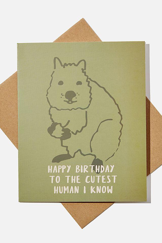 Nice Birthday Card, RG AUS QUOKKA