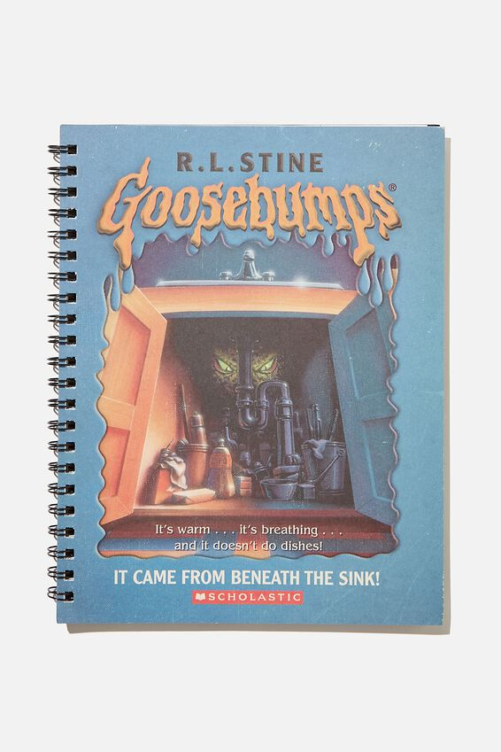 A4 Campus Notebook Recycled, LCN SON GOOSEBUMPS BLUE