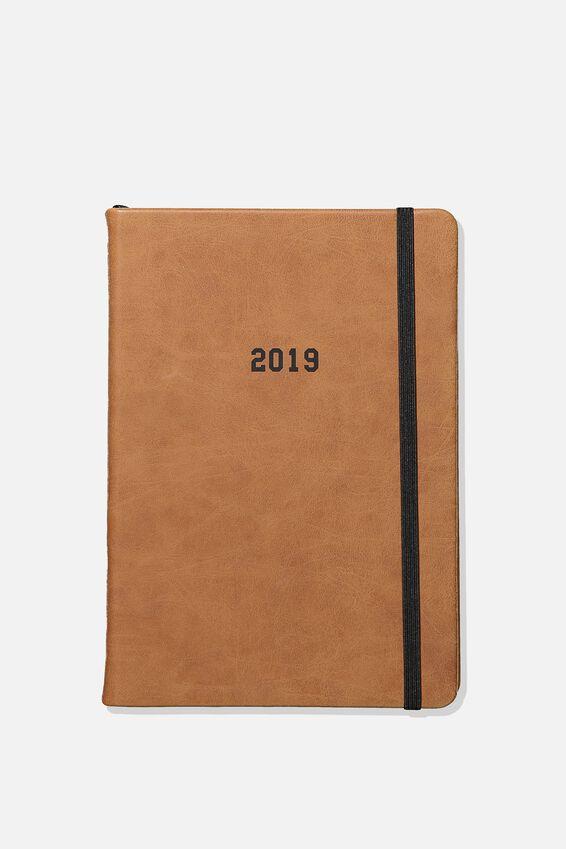 2019 A5 Daily Buffalo Diary, TAN