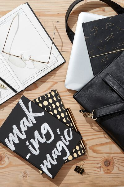 A5 High Shine Notebook, BLACK MAKING MAGIC
