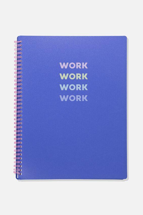 A4 Display Folder, BLUE WORK