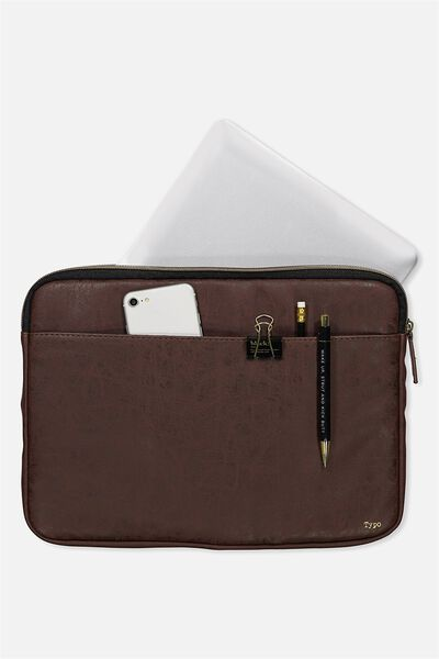 "Core Laptop Cover 13"", RICH TAN"