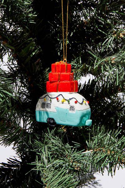Christmas Ornament, PRESENT CAMPER
