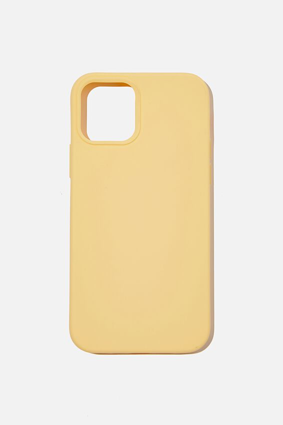 Recycled Phone Case Iphone 12, 12 Pro, WASHED MUSTARD