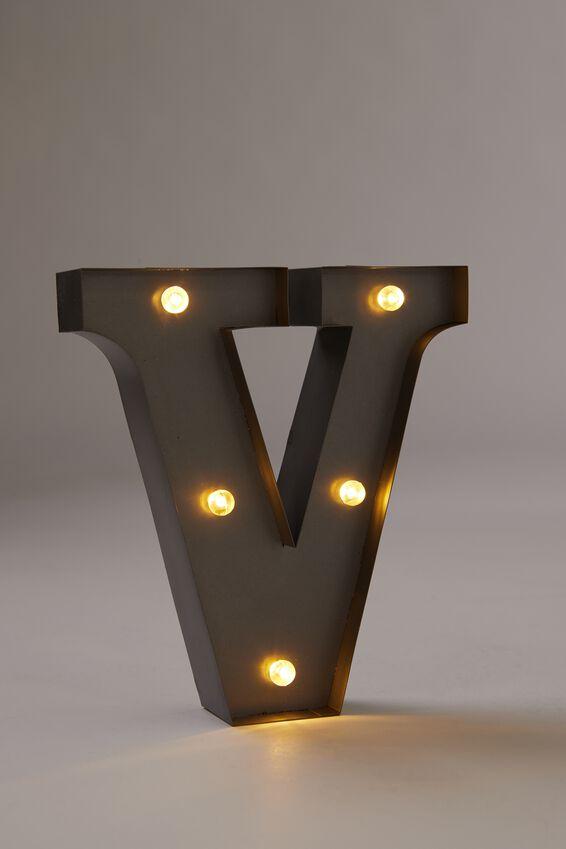 Midi Marquee Letter Lights 16cm, SILVER V