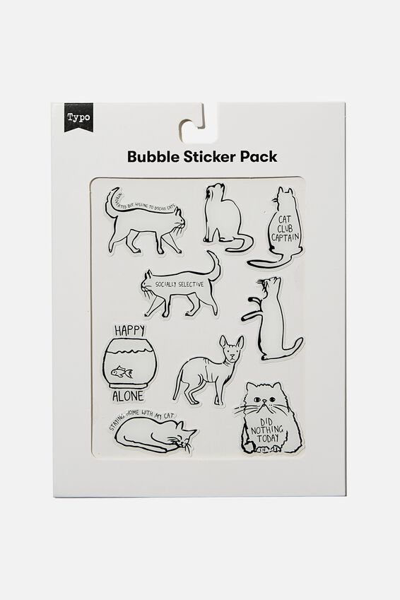 Bubble Sticker Pack, CATS