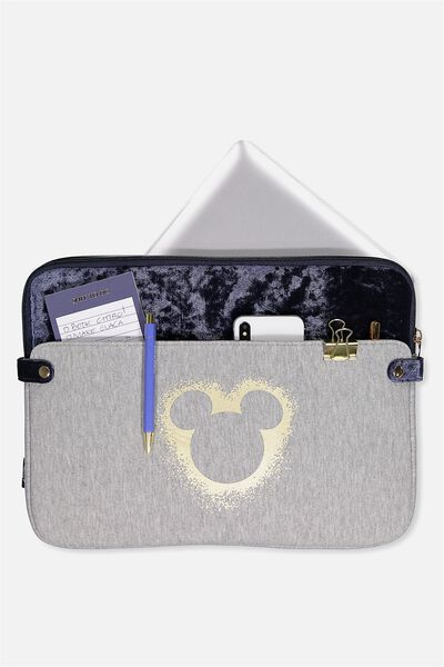 Varsity Laptop Case 15 Inch, LCN GREY MARLE MICKEY HEAD