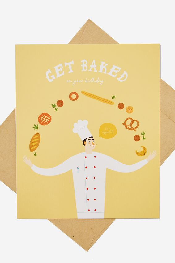 Funny Birthday Card, MJ GET BAKED!!