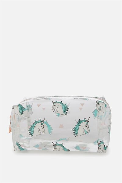 Made Up Cosmetic Bag, UNICORN YARDAGE