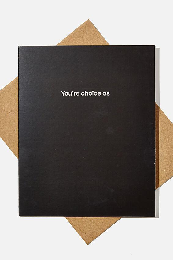 Thank You Card, RG NZ YOURE CHOICE AS
