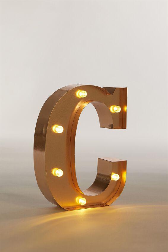 Marquee Letter Lights Premium 16cm Midi, ROSE GOLD C