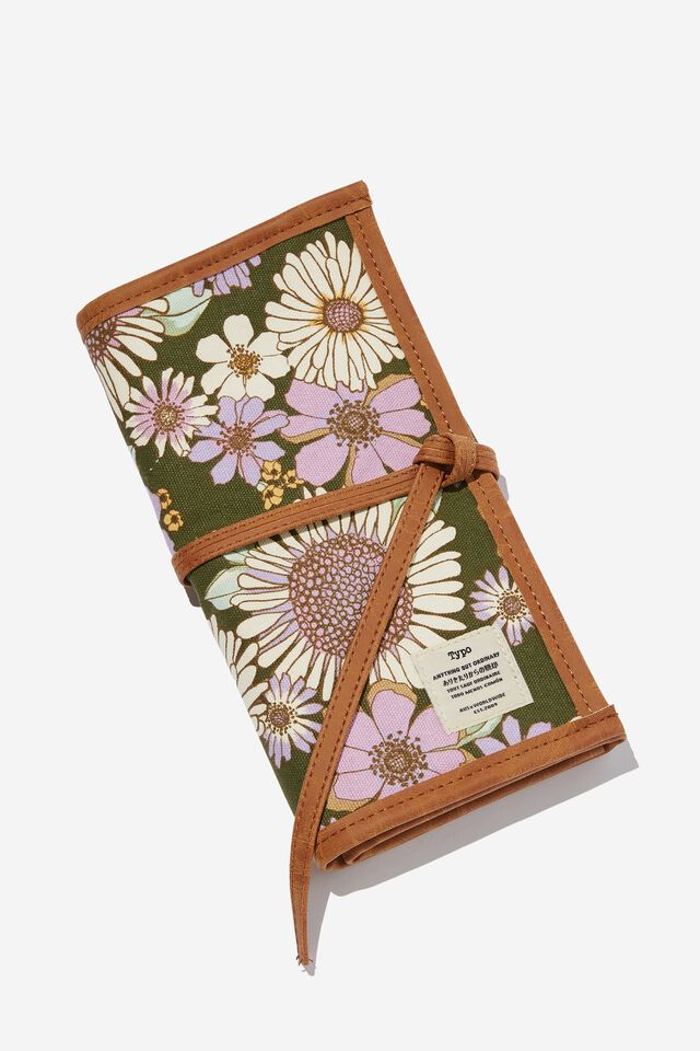 Roll With It Brush Case, SUNNIE FLORAL