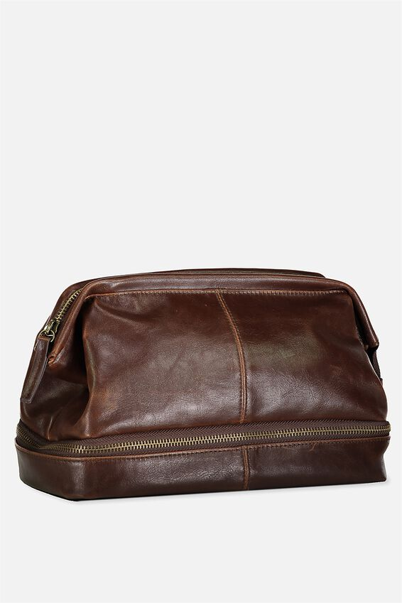 Debonair Wash Bag, RICH TAN