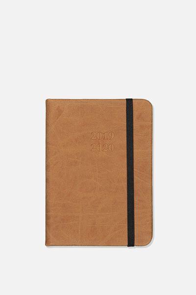 2019 20 Small A6 Weekly Buffalo Diary, TAN