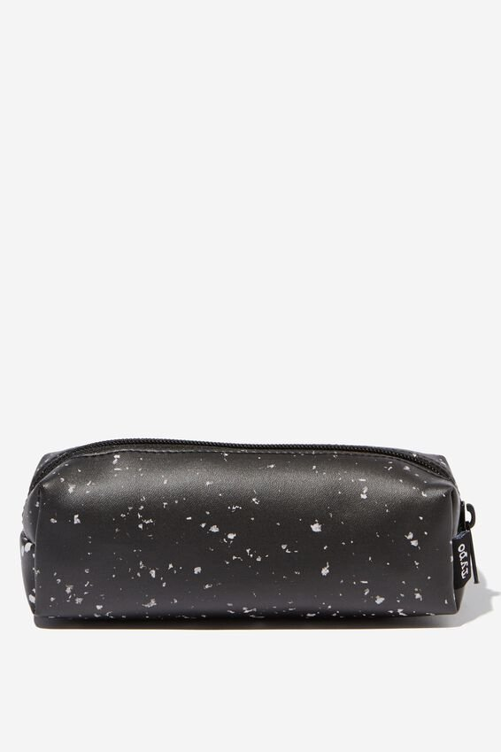 Bailey Pencil Case, BLACK SPECKLED