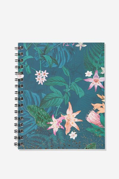 A5 Campus Notebook, JUNGLE FLORAL