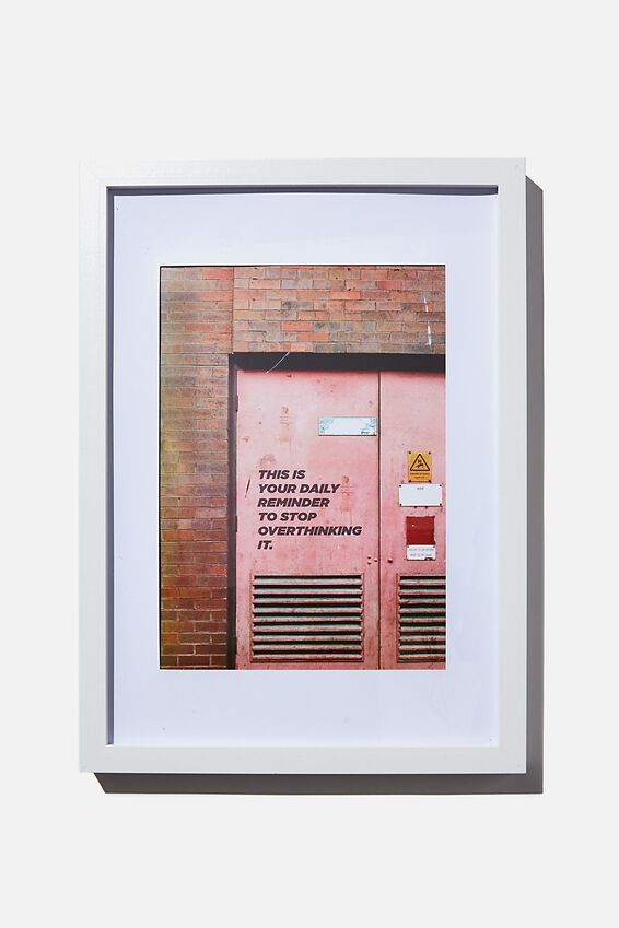 A4 Framed Print, DAILY OPTIMISM