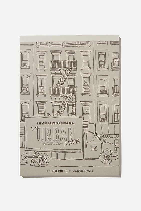 Artists Assistant Colouring In Book, URBAN SKETCING