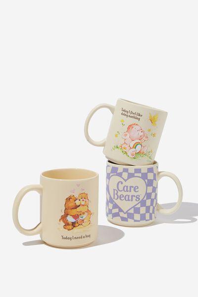 Pack Of 3 Mugs, LCN CLC CARE BEARS