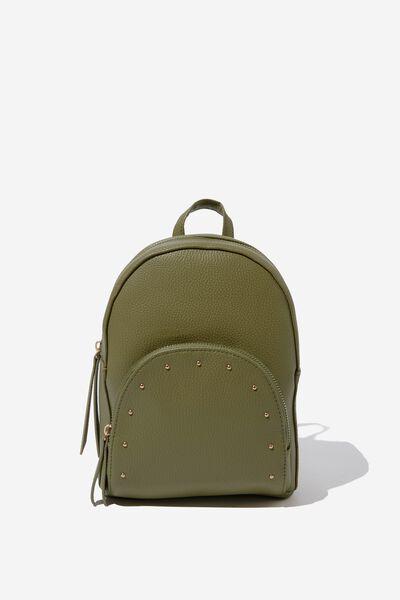 Sunset Mini Backpack, OLIVE W STUDDED PKT