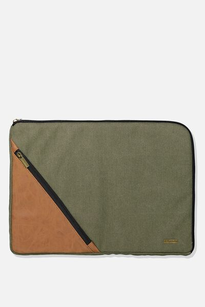Premium Laptop Case 15 Inch, KHAKI & TAN