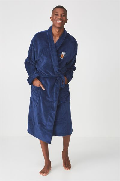 Mens Bath Robe, BEER