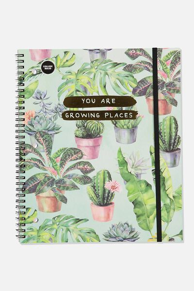 College Ruled Spinout Notebook V, GROWING PLACES