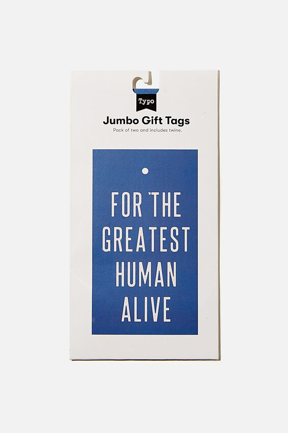 Jumbo Gift Tag Pack, GREATEST HUMAN ALIVE