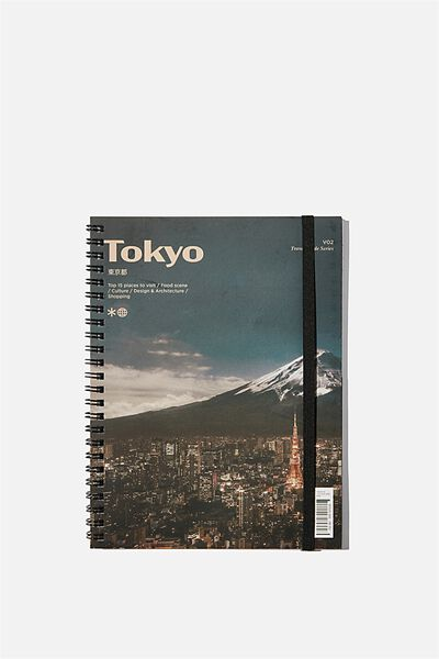A5 Spinout Notebook Recycled, TOKYO CULTURE