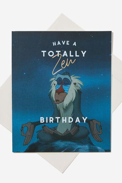 Funny Birthday Card LCN DIS ZEN KING